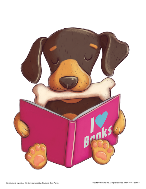 Come. Stay. Read! Good dog!